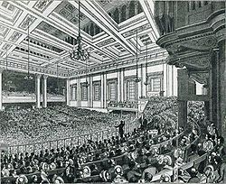 Meeting of the Anti-Corn Law League in Exeter Hall in 1846