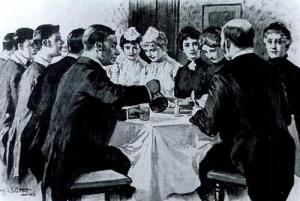 Dinner in the Servants' Hall