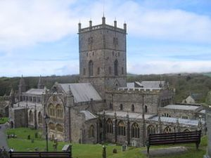 St David's Cathedral, built in its present form 1181 at St David's, Pembrokeshire