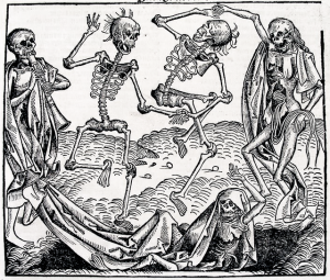 Dance of Death (1493) by Michael Wolgemut, from the Liber chronicarum by Hartmann Schedel