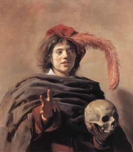 Frans Hals (1582/1583–1666) - Web Gallery of Art:    Frans Hals, Youth with a Skull, c. 1626-1628