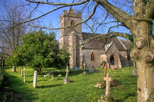Mike Searle - From geograph.org.uk Bettiscombe - Church of St Stephen The church was entirely rebuilt in 1862 in the Perpendicular style by John Hicks of Dorchester.