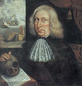 Thomas Smith painted this art, Self-Portrait, in 1680, in colonial America. The Copyright has expired; the author died over 300 years ago. It is in the public domain, for public use.