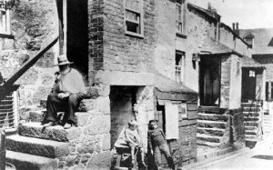 Working class life in Victorian Wetherby, West Yorkshire, England. Bishopgate, a former slum area in Wetherby.