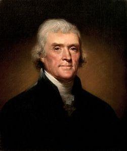 Portrait of Thomas Jefferson Rembrandt Peale 1800
