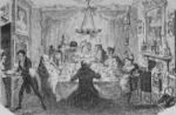 cruikshank-christmas-pudding-served-at-dinner-party-life-magazine-image