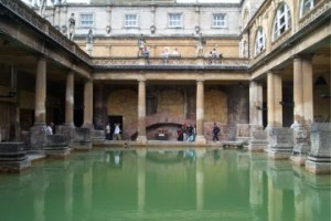 the ancient Roman baths in Bath, UK
