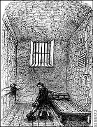 Prisoner in his cell at Newgate Prison~from Crime Library http://www.crimelibrary. com/serial_killers/weird /todd/newgate_4.html