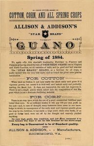 1884 Advertisement for Guano - Public Domain