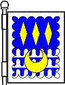3 fusils—Per fess azure and vair ancient; three fusils in chief and a crescent in base, or; a bordure engrailed argent—Freeman of Murtle, Scotland