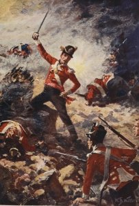 William Barnes Wollen - 'Battles of the Nineteenth Century' by Archibald Forbes, G.A. Henty and Arthur Griffiths Illustration of Colin Campbell leading the 'forlorn hope' at the Siege of San Sebastián, 1813 - Public Domain http://en.wikipedia.org /wiki/Forlorn_hope# mediaviewer/File: Forlorn_hope.jpg