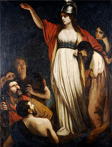 Boadicea Haranguing the Britons - Public Domain - en.wikipedia.     org/wiki/Boudica#/ media/File:Queen_ Boudica_by_John_Opie. jpg