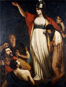 Boadicea Haranguing the Britons - Public Domain - en.wikipedia.     org/wiki/Boudica#/ media/File:Queen_ Boudica_by_John_Opie. jpg