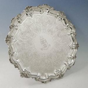 Victorian Silver Salver http://www.davidshure.com/silver-salvers