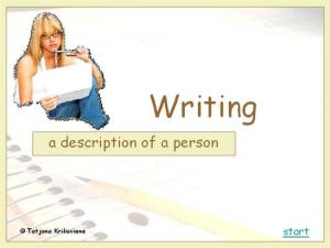 Writing a Description of a Person |authorSTREAM www.authorstream.com