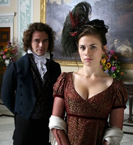 Costumes for Regency Bad Girls in Jane Austen Movies www.frockflicks.com  Mansfield Park (2007), Mary Crawford (Hayley Atwell)