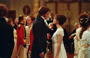 Pride and Prejudice (2005) - Visual Parables www.readthespirit.com Mr. Darcy and Elizabeth Bennet start off on the wrong foot at a ball. (c) 2005 Focus Features