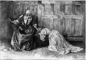 Mythopoeic Rambling: It was in and about the Martinmas time... mythopoeicrambling.blogspot.com Barbara Allen Kneeling in Sorrow by Edwin Austin Abbey