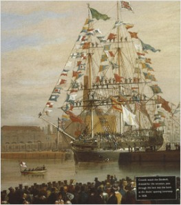 the 1828 opening of St. Katherine Docks http://www.skdocks.co.uk/ the-docks/our-heritage