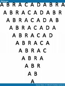 Sammonicus' anti-pyretic abracadabra talisman.