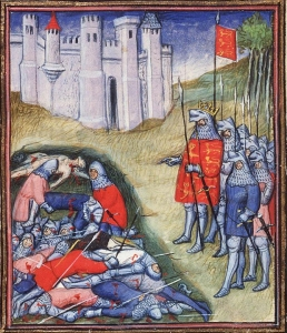 Public Domain ~ Edward III counting the dead on the battlefield of Crécy en.wikipedia.org/wiki/ Edward_III_of_England#/ media/File:Edward_III_ counting_the_dead_on_ the_battlefield_of_Crécy.jpg
