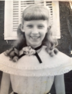 This is me dressed up in August 1957. I was 10 years old at the time.