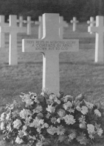 Unknown U.S. soldier from the North African American Cemetery  http://www.history.army. mil/html/reference/ holidays/vetsday/vetshist. html