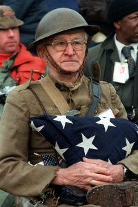 Veterans day.jpg More details Joseph Ambrose, an 86-year-old World War I veteran, attends the dedication day parade for the Vietnam Veterans Memorial in 1982. He is holding the flag that covered the casket of his son, who was killed in the Korean War Department of Defense. Defense Audiovisual Agency; Scene Camera Operator: Mickey Sanborn - National Archives and Records Administration   Native name National Archives and Records Administration Location Washington, D.C. (headquarters), and many regional facilities and presidential libraries nationwide in the USA Coordinates 38° 53′ 34″ N, 77° 01′ 23″ W    Established 1934 Website www.archives.gov Authority control VIAF: 132254586 LCCN: n84176101 GND: 00605336X BnF: cb12182396f WorldCat Originally from en.wikipedia; description page is (was) here Permission details This work is in the public domain in the United States because it is a work prepared by an officer or employee of the United States Government as part of that person's official duties under the terms of Title 17, Chapter 1, Section 105 of the US Code. See Copyright. Note: This only applies to original works of the Federal Government and not to the work of any individual U.S. state, territory, commonwealth, county, municipality, or any other subdivision. This template also does not apply to postage stamp designs published by the United States Postal Service since 1978. (See § 313.6(C)(1) of Compendium of U.S. Copyright Office Practices). It also does not apply to certain US coins; see The US Mint Terms of Use. This file has been identified as being free of known restrictions under copyright law, including all related and neighboring rights. Public Domain File:Veterans day.jpg