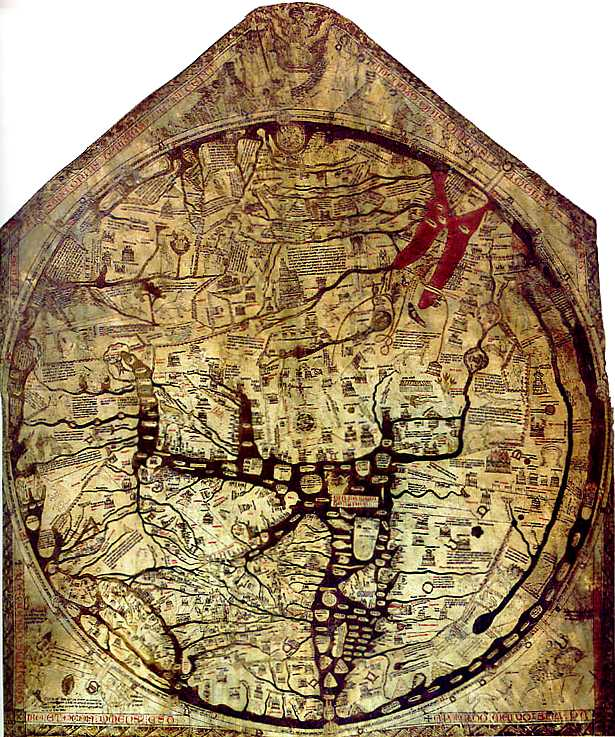 The Mappa Mundi The World S Largest Medieval Map Every Woman Dreams