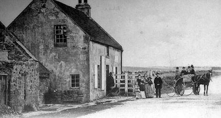 Old Photograph Toll House Lamberton Scotland