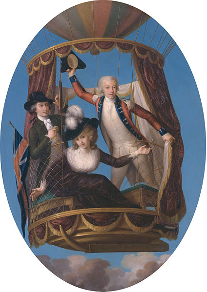 424px-Captain_Vincenzo_Lunardi_with_his_Assistant_George_Biggin,_and_Mrs__Letitia_Anne_Sage,_in_a_Balloon,_by_John_Francis_Rigaud_PD
