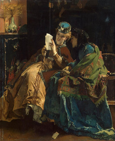 Pleasant letter, by Alfred Stevens, 1860