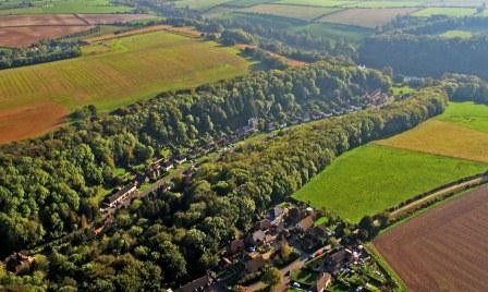 Aerial view of Milton Abbas from north.jpg